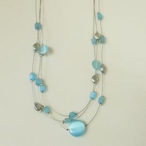 Lia Sophia beaded and wire necklace